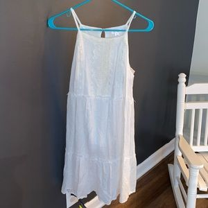 Xhilaration white flowy dress